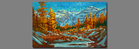 Larch Valley - 30x48